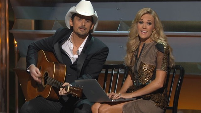VIDEO: CMA crowd cheers Website satire song; Taylor Swift less amused.