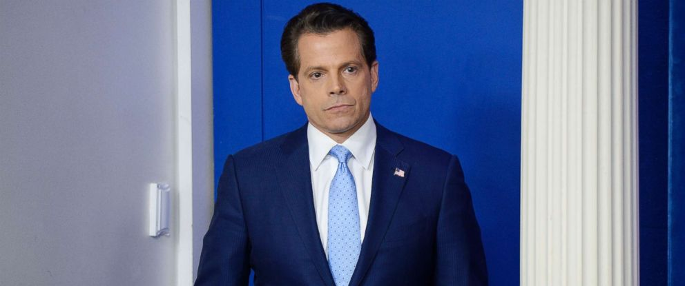 PHOTO: Newly appointed White House communications director Anthony Scaramucci attends a press briefing at the White House, July 21, 2017 in Washington, D.C.