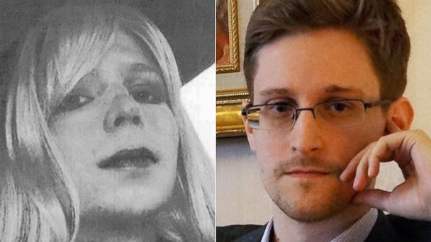 PHOTO: Chelsea Manning and Edward Snowden in file photos.