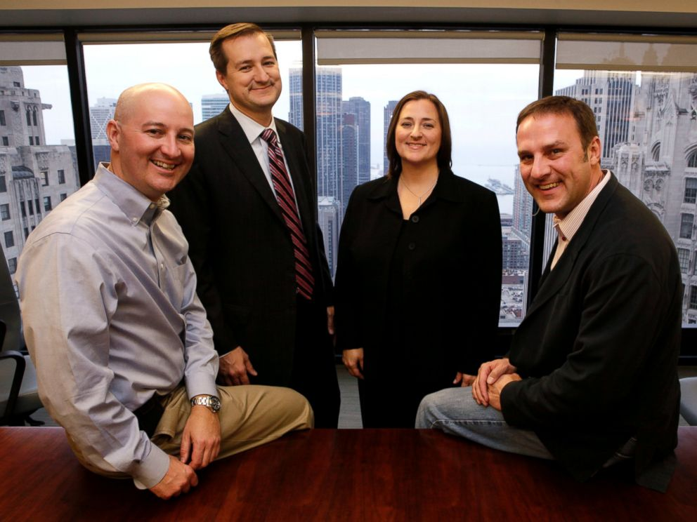 PHOTO: The Ricketts family from Omaha, Nebraska, are the new owners of the Chicago Cubs baseball club, from left, Pete, Tom, Laura, and Todd, are photographed after an interview with The Associated Press in Chicago, Oct. 29, 2009.