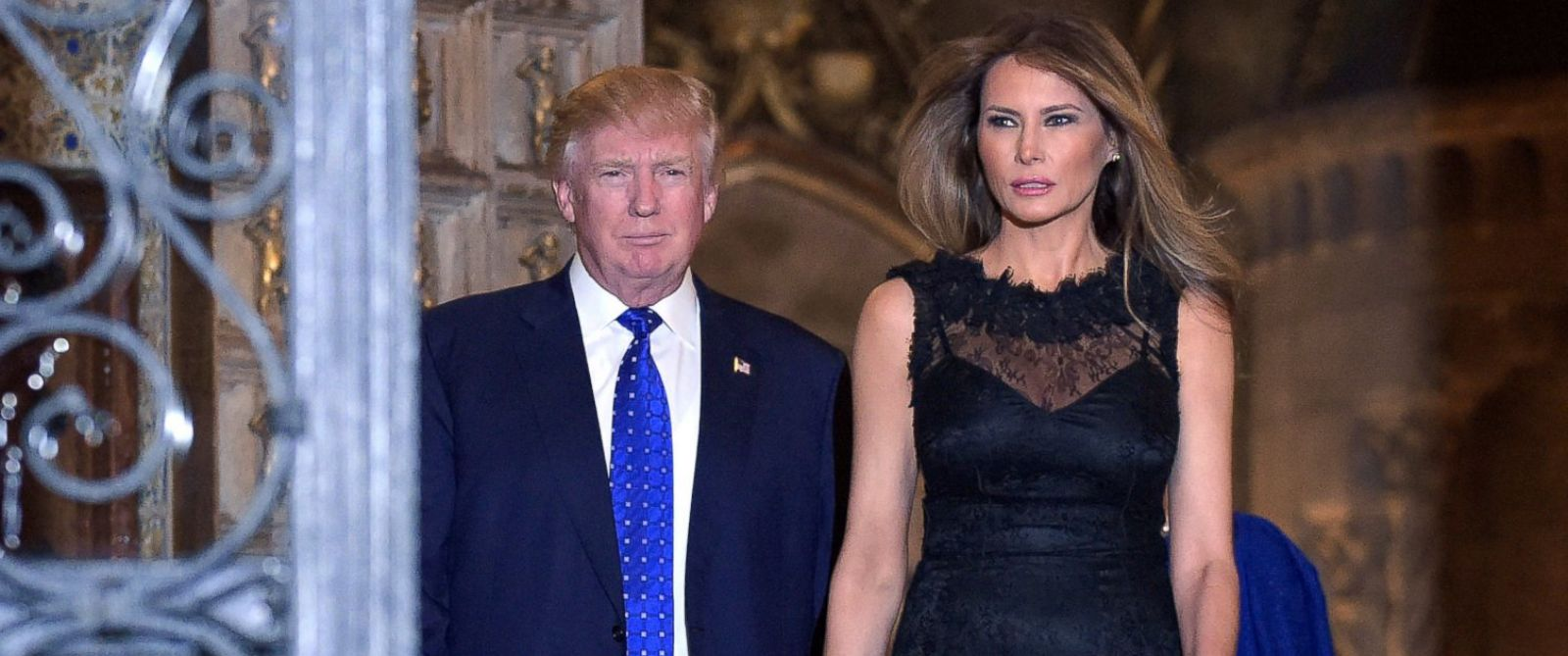 PHOTO: President Donald Trump and first lady Melania Trump are photographed at Mar-a-Lago in Palm Beach, Fla., Feb. 11, 2017.