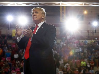 PHOTO: President Donald Trump wrapped up his first 100 days in office with a campaign rally at the Pennsylvania Farm Show Complex and Expo Center in Harrisburg, Pa., April, 29, 2017.