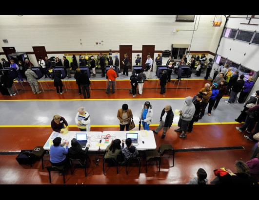 Voting Scenes from Across the Country