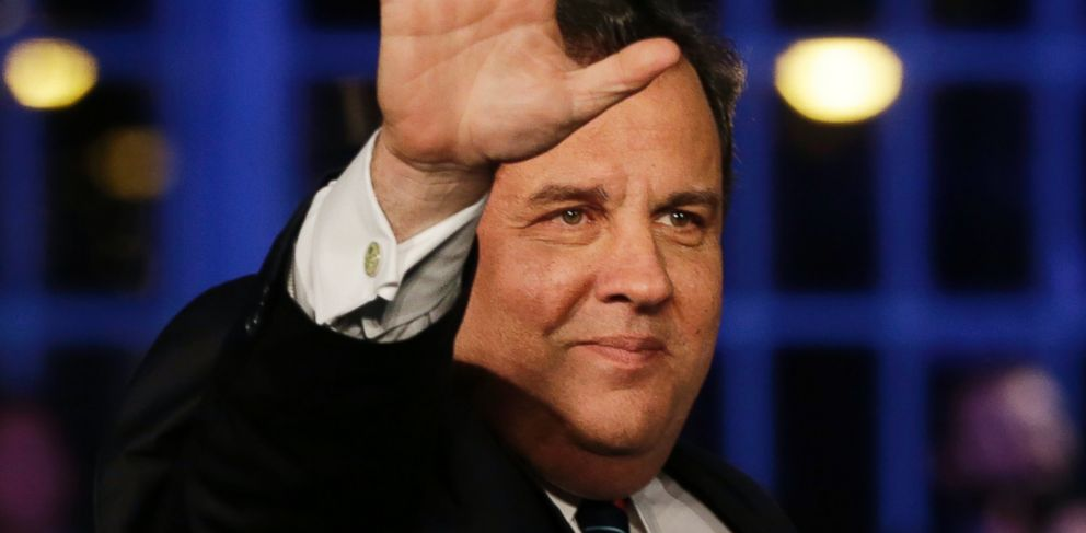 PHOTO: Republican New Jersey Gov. Chris Christie waves as he celebrates his election victory in Asbury Park, N.J., Tuesday, Nov. 5, 2013, after defeating Democratic challenger Barbara Buono.