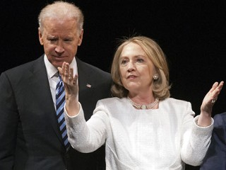 2016 Preview? Clinton, Biden Share Stage
