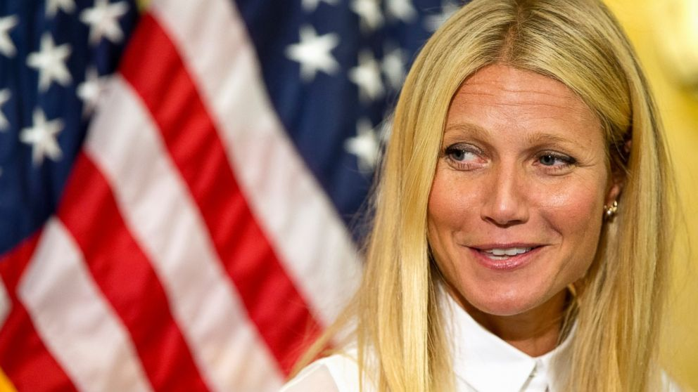 PHOTO: Gwyneth Paltrow speaks during a news conference on Capitol Hill in Washington, Wednesday, Aug. 5, 2015, to speak out against the The Denying Americans the Right-to-Know, DARK Act on GMO labeling.