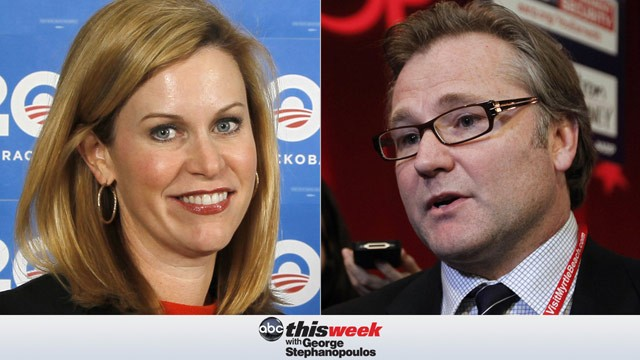 PHOTO: Obama deputy campaign manager Stephanie Cutter and Romney campaign senior advisor Eric Fehrnstrom join the 'This Week' powerhouse roundtable.