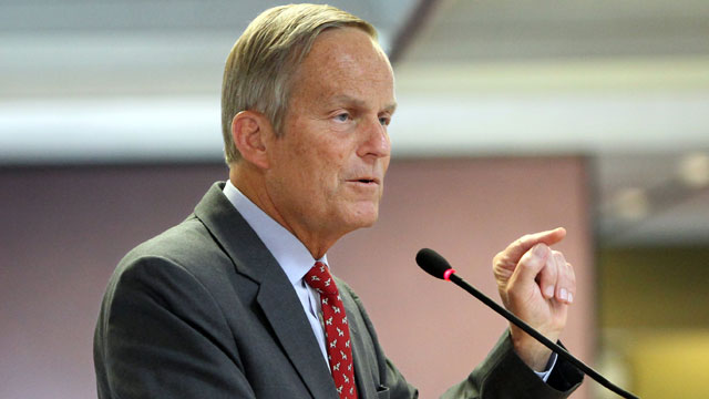 PHOTO:This Aug. 10, 2012 file photo shows Todd Akin, Republican, candidate for U.S. Senator from Missouri, speaks at the Missouri Farm Bureau candidate interview and endorsement meeting in Jefferson City, Mo.