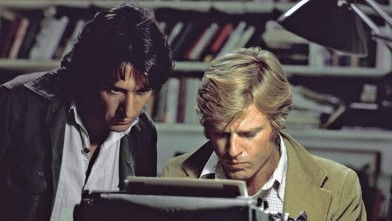 "PHOTO: Robert Redford, right, and Dustin Hoffman appear in their roles as reporters Bob Woodward and Carl Bernstein, respectively, in the 1976 film ""All the President's Men."""