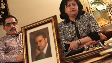 PHOTO: Behnaz Hekmati sits with her husband Ali Hekmati as they talk about their son, former U.S. Marine Amir Hekmati, who is being detained in Iran accused of being a CIA spy, at their home in Flint Township, Mich., May 10, 2013.