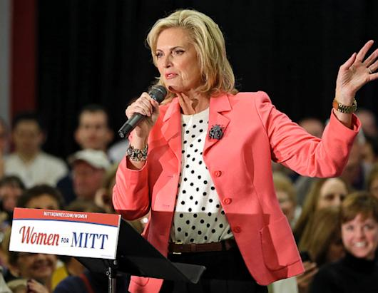 Ann Romney Stumps in Spots