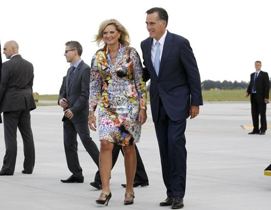 Ann Romney Wears Multi Patterns