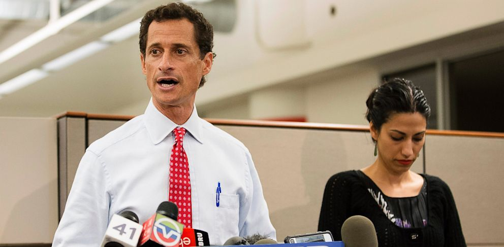 PHOTO: Anthony Weiner and Huma Abedin