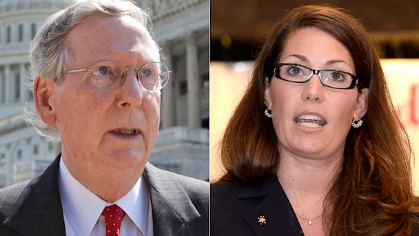 ap ap mcconnell lundergan grimes kb 130803 16x9 608 Mitch McConnells Gloves Off Fight for Re Election