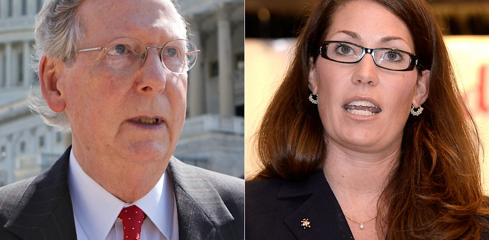 PHOTO: Senate Minority Leader Mitch McConnell and Kentucky Secretary of State Allison Lundergan-Grimes