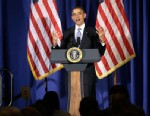 PHOTO: President Barack Obama speaks during a Democratic fundraiser at the Waldorf Astoria Hotel in New York, May 13, 2013.