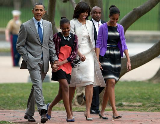 Barack Obama and Family on Easter Sunday