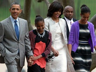 Photos: Obama Kids at Easter Services