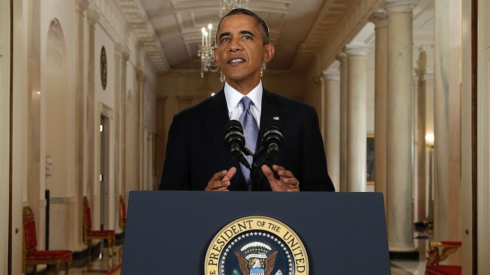 PHOTO: President Obama press conference on Syria