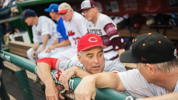 PHOTO: Rep. Brad Wenstrup, R-Ohio, hangs out before the Republicans' 8-7 victory in the 55th Congressional Baseball Game in Nationals Park, June 23, 2016.