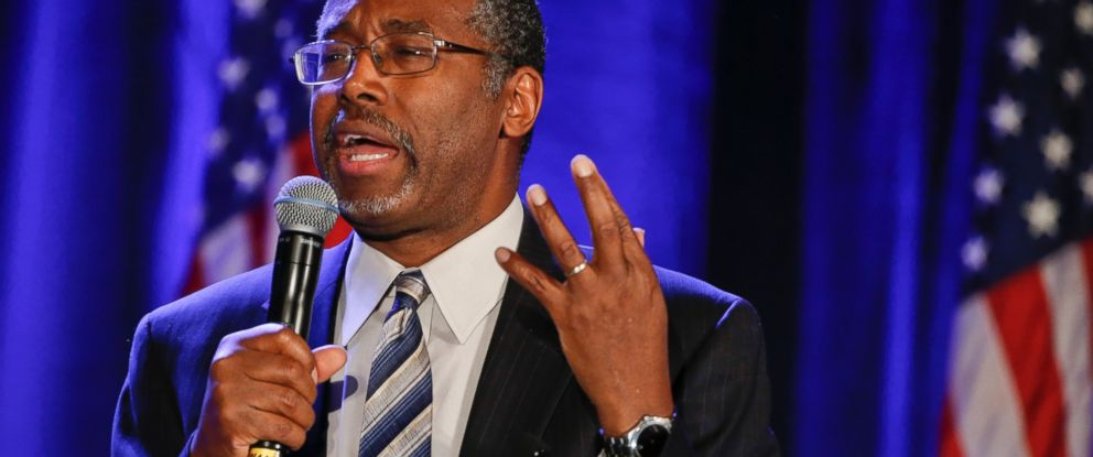 PHOTO: Dr. Ben Carson addresses the Republican National Committee luncheon on Jan. 15, 2015, in San Diego.