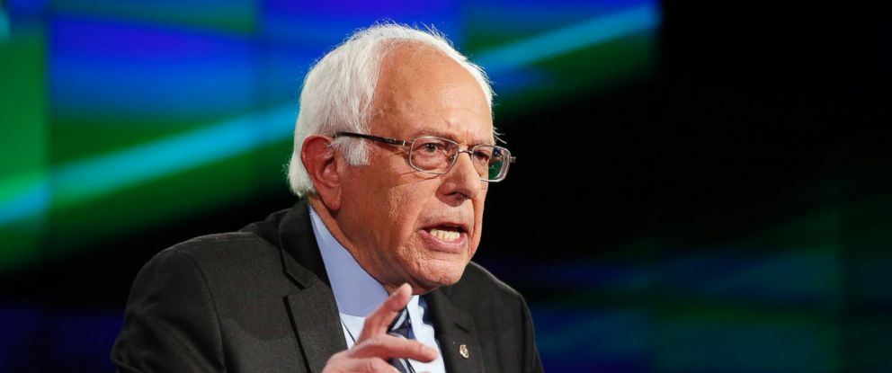 PHOTO: Sen. Bernie Sanders, of Vermont, speaks during the Democratic presidential debate, Oct. 13, 2015, in Las Vegas.