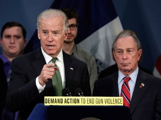 Biden, Bloomberg, Newtown Parents Press for Strict Gun Control