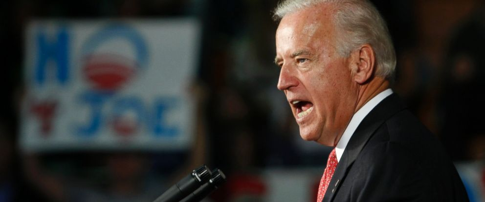PHOTO: Democratic vice-presidential candidate, Sen. Joe Biden, D-Del. speaks at a campaign rally, Thursday, Oct. 30, 2008, at Fox high school in Arnold, Mo.