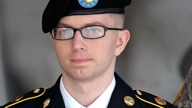 PHOTO: Army Pfc. Bradley Manning departs a courthouse in Fort Meade, Md, March 15, 2012.