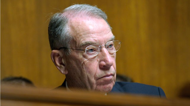 PHOTO: Sen. Charles Grassley, R-Iowa, listens to testimony on Capitol Hill in Washington, April 25, 2012.