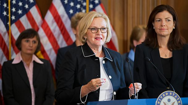 ap clair mccaskill ll 130809 16x9 608 Alarming Stats From Congressional Campus Sex Assault Report