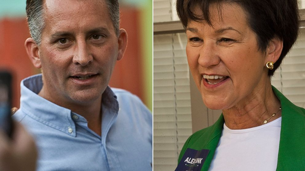 PHOTO: Florida Republican Congressional Candidate David Jolly, left, and Florida Democratic Congressional candidate Alex Sink, right. are seen in these file photos taken on Nov. 23, 2013.