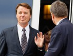 PHOTO: John Edwards leaves a federal courthouse after the seventh day of jury deliberations in his trial on charges of campaign corruption in Greensboro, N.C., Tuesday, May 29, 2012.