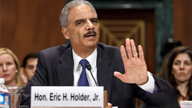 PHOTO: Attorney General Eric Holder testifies on Capitol Hill in Washington on June 12, 2012, before the Senate Judiciary Committee hearing looking into national security leaks.