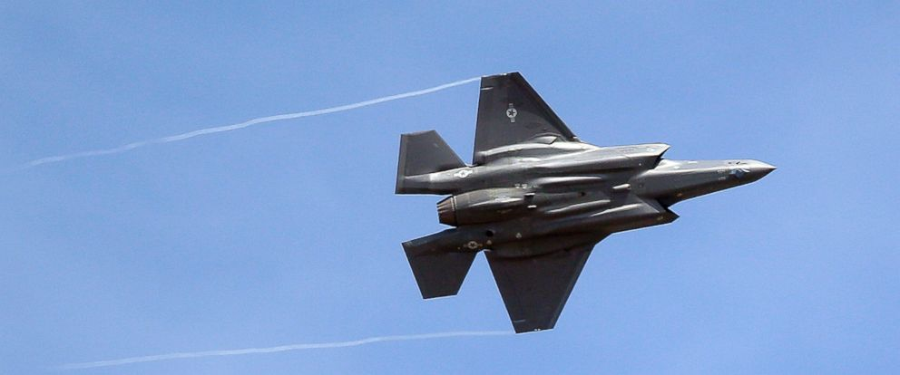 PHOTO: FILE - In this Wednesday, Sept. 2, 2015, file photo, an F-35 jet arrives at its new operational base at Hill Air Force Base, in northern Utah.