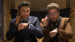 PHOTO: James Franco, left, and Seth Rogen in a scene from the The Interview.