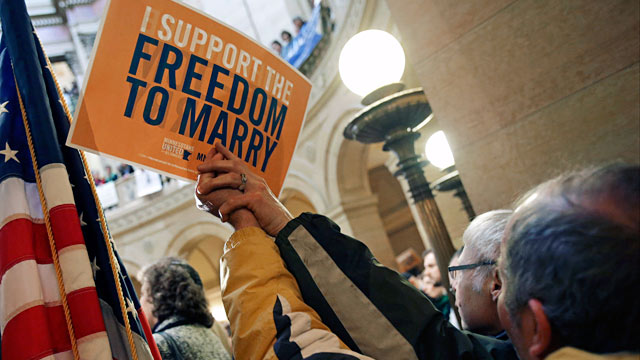 PHOTO: Gay marriage supporters