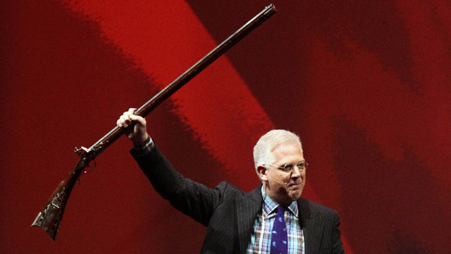 PHOTO:Glenn Beck speaks during the NRA convention at the George R. Brown Convention Center Saturday, May 4, 2013, in Houston.