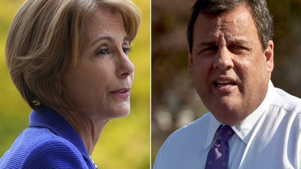ap gty buono christie split kb 131101 16x9 608 Chris Christies Opponent, Barbara Buono, Wages Lonely Campaign