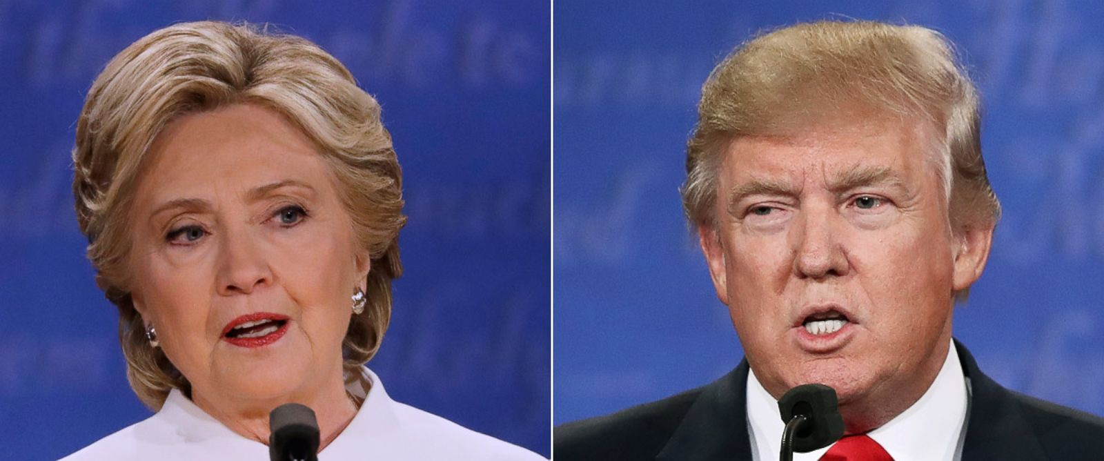 PHOTO: Hillary Clinton and Donald Trump at the third presidential debate at UNLV in Las Vegas, Oct. 19, 2016.