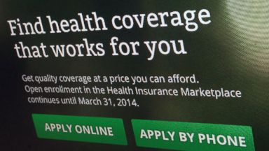 PHOTO: The HealthCare.gov website is shown in Washington, in this Nov. 29, 2013 photo.