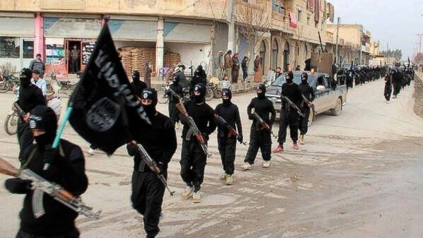 PHOTO: This undated photo posted on a militant website on Jan. 14, 2014, shows fighters from the al-Qaida linked Islamic State of Iraq and the Levant (ISIL) marching in Raqqa, Syria.