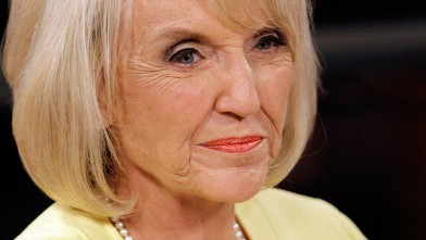 PHOTO: Republican Arizona Gov. Jan Brewer takes part in a televised Arizona gubernatorial debate in this Sept. 1, 2010 file photo in Phoenix.