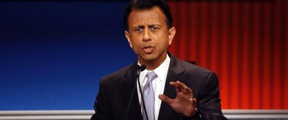 PHOTO: Bobby Jindal speaks during Republican presidential debate at Milwaukee Theatre, Nov. 10, 2015, in Milwaukee.