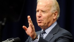 PHOTO: Vice President Joe Biden speaks Sunday, March 3, 2013, during the Martin and Coretta King Unity Brunch at Wallace Community College in Selma, Ala.