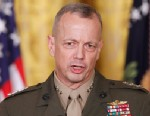 PHOTO: Marine Corps Gen. John Allen, speaks in the East Room of the White House in Washington on April 28, 2011.