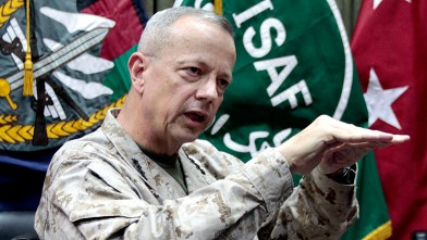 PHOTO: This July 22, 2012, file photo shows U.S.  Gen. John Allen, top commander of the NATO-led International Security Assistance Forces (ISAF) and U.S. forces in Afghanistan, during an interview in Kabul, Afghanistan.