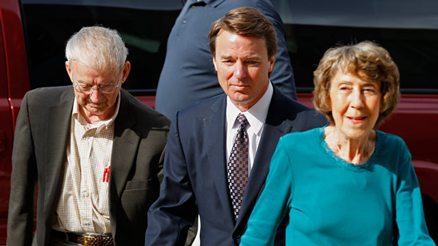 PHOTO: John Edwards with parents Bobbie and Wallace