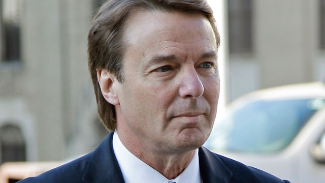 PHOTO: Former presidential candidate and U.S. Sen. John Edwards arrives outside federal court in Greensboro, N.C., April 23, 2012.