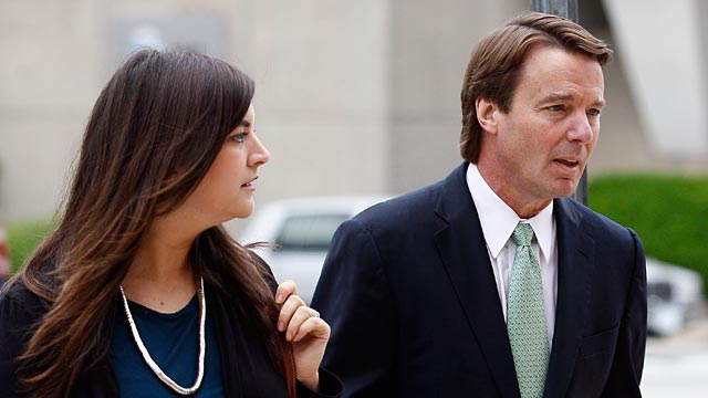 PHOTO: Former presidential candidate and Sen. John Edwards and his daughter Cate Edwards arrive at a federal court